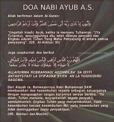 DOA NABI AYUB A.S. Prayer Verses, My Prayer, Pray Quotes, Life Quotes, Islamic Dua, Islamic Quotes, Doa Islam, Just Pray, Learn Islam