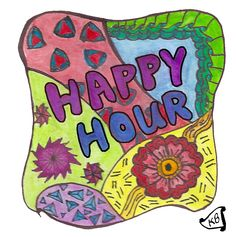 June 23 Happy Hour: 3.5 x 3.5 on Canson Mixed Media paper using Inktense watercolour pencils.