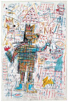 Tableaux sur toile, reproduction de Basquiat, Drawing (Dessin)