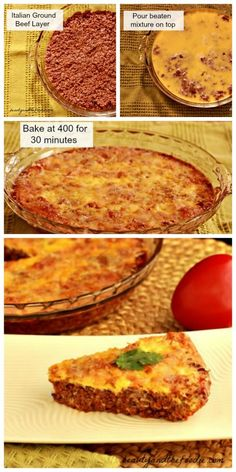 Easy Paleo Hamburger Pie, Crust Free and Low Carb |  easy to prepare, budget friendly, grain free, savory meat pie. / www.beautyandthefoodie.com
