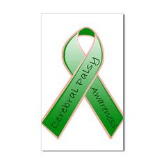 Cerebral Palsy (CP) Decal....I didn't even know there was a colored ribbon for CP awareness. Neat!
