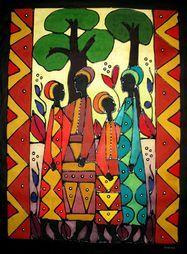 New African Art Projects Galleries Ideas African Art Projects, Architecture Art Nouveau, African Art Paintings, Art Africain, Africa Art, Painting Gallery, Indigenous Art, African American Art, Aboriginal Art