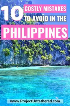 Looking for Philippines travel tips? Well, here is a list of everything NOT to do (that we learned the hard way). Click through to discover useful Philippines packing tips, advice on where (and where NOT) to find cheap and delicious food, and mistakes to avoid that'll save you time, shave down the cost of your trip, and prevent unneeded stress. #philippinestravel #traveltipsandtricks #thephilippines #traveltips #philippinestraveltips #philippinesbackpacking #philippines