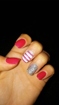 my new pink nails