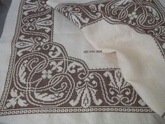 Filet Crochet, Cross Stitch Patterns, Diy And Crafts, Projects To Try, Embroidery, Knitting, How To Make, Tablecloths, Rugs