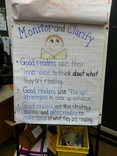 Monitor and Clarify reading strategy anchor chart.. I think I'm obsessed with anchor charts! :)