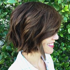 short+brown+choppy+messy+bob