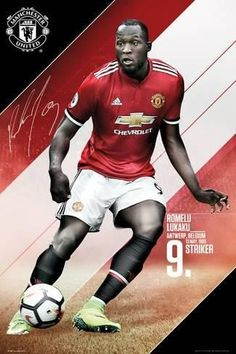 Get to know a bit more about your favourite Manchester United player with this brilliant poster. Displaying his stats alongside an action shot in his team strip, Lukaku looks ready to take on his position of striker in the Premier League. Manchester United Club, Manchester United Wallpaper, Manchester Football, Cristiano Ronaldo, Neymar, Fifa, Man Utd Fc, Frases, Sports