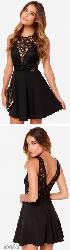 In The Swoon-Light Black Lace Dress