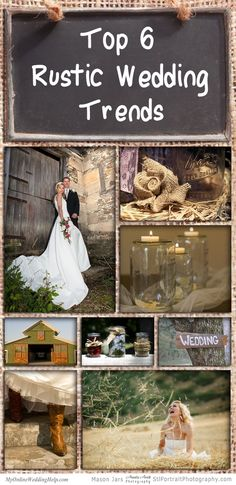 rustic wedding ideas- don't exactly like these, but there's LOTS of links and other ideas on the page