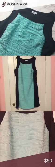 ⚡️PRICE DROP⚡️NWOT Calvin Klein Sleeveless Dress NWOT Calvin Klein Mint and Black Sleeveless Dress Calvin Klein Dresses