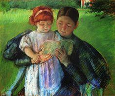 Mary Cassatt. Nurse reading to a little girl.