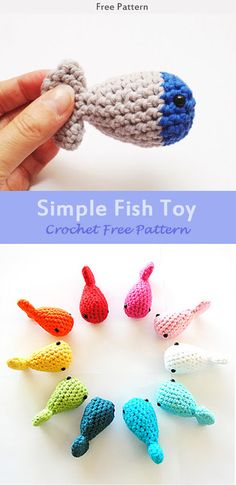 Simple Fish Toy Crochet Free Pattern #freecrochetpatterns #crochetpattern #Toy