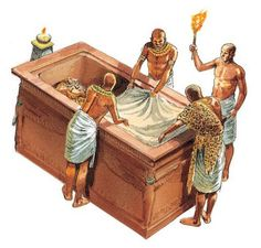Covering the sarcophagus