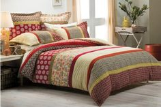 Morgan & Finch Saki King Bed Quilt Cover Set 4 pillowcase cover, from Bed n Bath Red Bedding, Luxury Bedding, Asian Inspired Bedroom, Bed N Bath, Tiny House Bedroom, Master Bedroom, Beige Bed Linen, Warm Colour Palette, Single Quilt