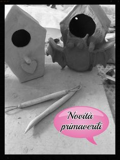 Work in progress! Soon you will find on my Etsy neat houses for birds ceramic, made and decorated by hand in clay.