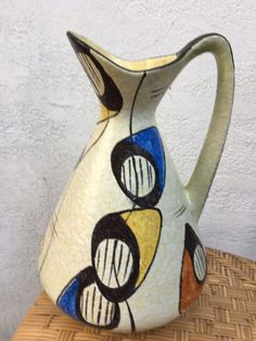 50er / 60er Jahre Keramik Vase BAY, 31 cm hoch  | eBay