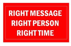 Meaningful marketing – right message, right person, right time