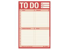 To Do Pad (Red)