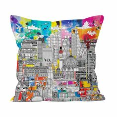 The lights of London will brighten-up any home with this colourful Meha Art design. The city's key landmarks and sights decorate this eye-catching cushion, handmade in the UK and finished with a contrasting charcoal backing. Meha's illustration pays a visit to some of London's most popular tourist destinations from Big Ben and The Natural History Museum to The Shard and The Gherkin.  #london #livingroominterior #interiordesign #colourfulinteriors Happy Easter Everyone, Feeling Excited, Colourful Cushions, London Skyline, Bank Holiday Weekend, Local Artists, Natural History, Pet Portraits, All Art