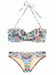 Mara Hoffman aztec bikini
