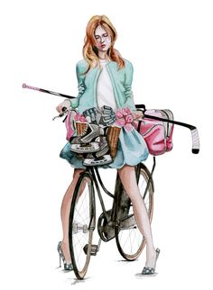 hockey fashion illustration by tracy hetzel
