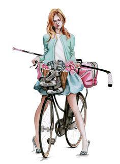 hockey fashion illustration by tracy hetzel