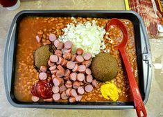 family baked beans recipe, baked beans for a crowd, best baked beans recipe ever