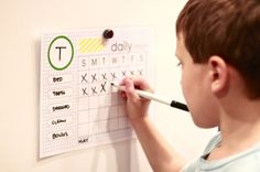 daily chore chart - free printable, 3 styles. great tips!