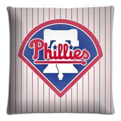 "20x30 20""x30"" 50x76cm bench pillow cases protector Polyester + Cotton Perfect Queen Size Philadelphia Phillies MLB baseball logo"