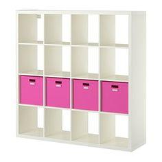 KALLAX / TJENA, Shelf unit with 4 inserts, white