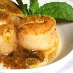Easy Garlic-Lemon Scallops - Allrecipes.com