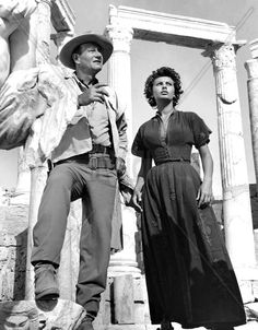 LEGEND OF THE LOST (1957) - John Wayne & Sophia Loren search for ancient treasure in the African desert - Directed by Henry Hathaway - Publicity Still.