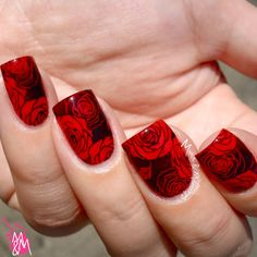 Manis & Makeovers: #RedCoatTuesday with BPS stamping plate L024