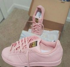 shoes pink adidas superstars leather