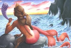 Mermaid by Kirstine.deviantart.com on @DeviantArt
