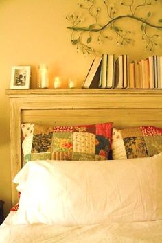 if we ever upgrade to a king sized bed, I love this headboard