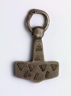 Wa Viking Thors Hammer Handarbeit aus Massivem Zinn in UK Schlüsselanhänger