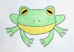 How To Draw A Cartoon Frog.  Find my Cute Toons videos on Facebook and PLEASE 'like'.  Also discover my Simeon Walker channel on YouTube.