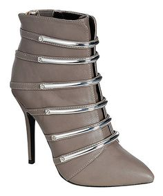 Look at this Dollhouse Gray & Silver Zone Bootie on today! Bootie Boots, Ankle Boots, Silver Boots, Beyond The Rack, Cute Boots, Designer Collection, Booty, Purses, Grey