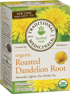 Organic roasted dandelion root tea by Traditional Medicinals. 60 oz. water, 2 T. lemon juice and 1 bag of this tea.  Steep overnight and drink all the next day!  Better sleep, more energy, flatter stomach AND curbs the appetite like you wouldn't believe!!  3.5 pounds gone last week alone....I'm hooked!!