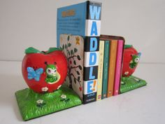 Vintage Childrens Bookends by 20thCenturyGoods on Etsy, $22.00