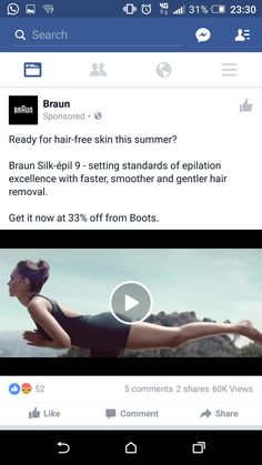 Braun- hair removal, potential interest but not something that would interest me in particular