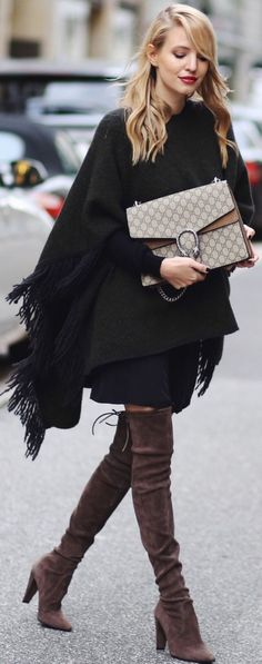 Street Chic, Over-the-Knee Suede Boots.