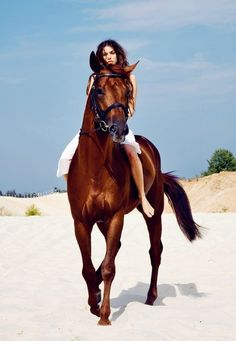random…but I'll take the horse, the beach, and an afternoon just to ride away!