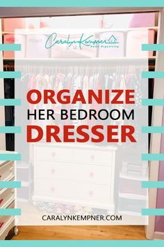 Organize Her Bedroom Dresser - Caralyn Kempner Bathroom Closet Organization, Home Organization Hacks, Organizing, Nursery Organization, Bedroom Dressers, Diy Home Decor On A Budget, Home Decor Inspiration, Decor Ideas, Minimalist Home
