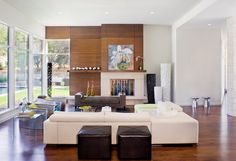 Looking for a modern trending look for your living room? Access our extensive image gallery featuring top modern living room designs to get inspired today. Living Room Styles, Living Room Designs, Spacious Living Room, Home Living Room, Living Spaces, Unused Fireplace, Fireplace Ideas, Fireplace Wall, Style Salon