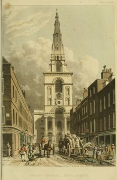 Regency England - London Churches - Ackermann's Repository - Christchurch Spitalfields