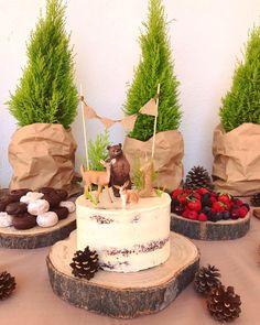 Animal Birthday Cakes, 1st Birthday Cake Topper, Baby Birthday Cakes, 1st Boy Birthday, 9th Birthday Parties, Fairy Birthday, Forest Party, Woodland Party, Woodland Cake