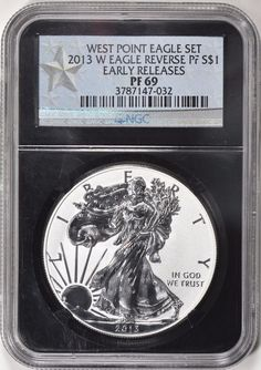 2013-W $1 Silver Eagle ER Reverse Proof NGC Proof-69 (Black Retro Label) Silver Eagle Coins, Silver Eagles, Bullion Coins, Silver Bullion, In God We Trust, Personalized Items, Retro, Label, Ebay